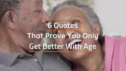 Aging Isn't Bad