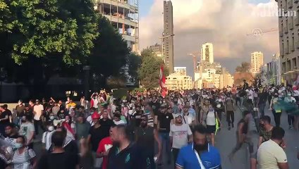 Lebanon: vigil and protests mark one week since devastating Beirut blast – video report
