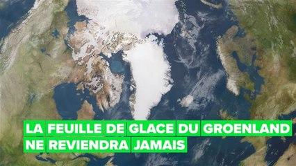 La fonte de la calotte glaciaire atteint le point de non-retour