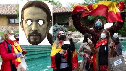 Caceroladas Iglesias: los ciudadanos de la bandera española pueden con Marlaska y con los piquetes de Podemos
