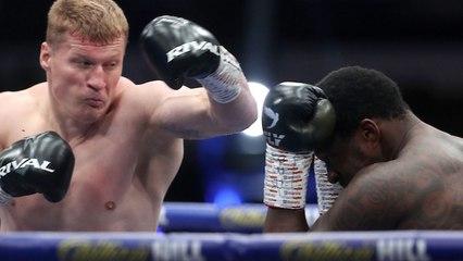 El ruso Povetkin, cae dos veces, pero gana el título de los pesados dejando KO a Whyte