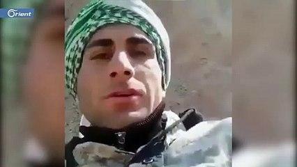 لحظة قنص أحد العناصر الإيرانية في سوريا