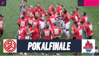 Engelmann-Gala: Rot-Weiss ist Pokalsieger   Rot-Weiss Essen - 1. FC Kleve (Finale, Niederrheinpokal)