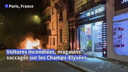 Dégâts importants à Paris après la défaite du PSG, les commerçants dépités