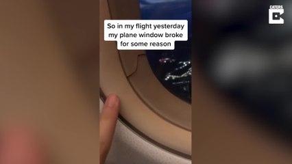 Schreckmoment: Sprung in Flugzeug-Fenster