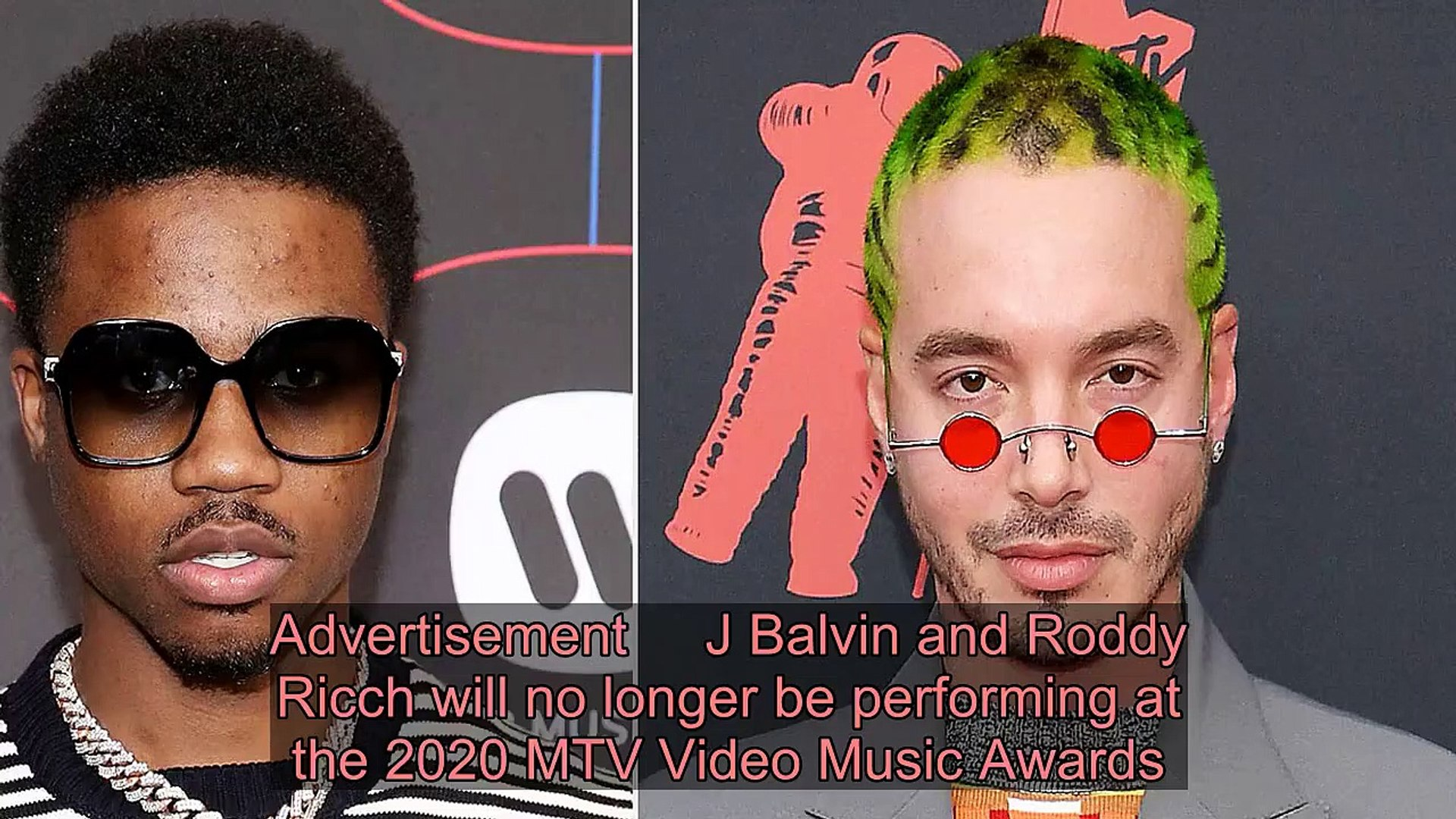 J Balvin and Roddy Ricch Drop Out of 2020 MTV VMAs Performance Lineup