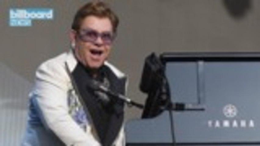 Elton John Reissues Debut Self-Titled Album In Honor of 50th Anniversary Troubadour Set | Billboard News