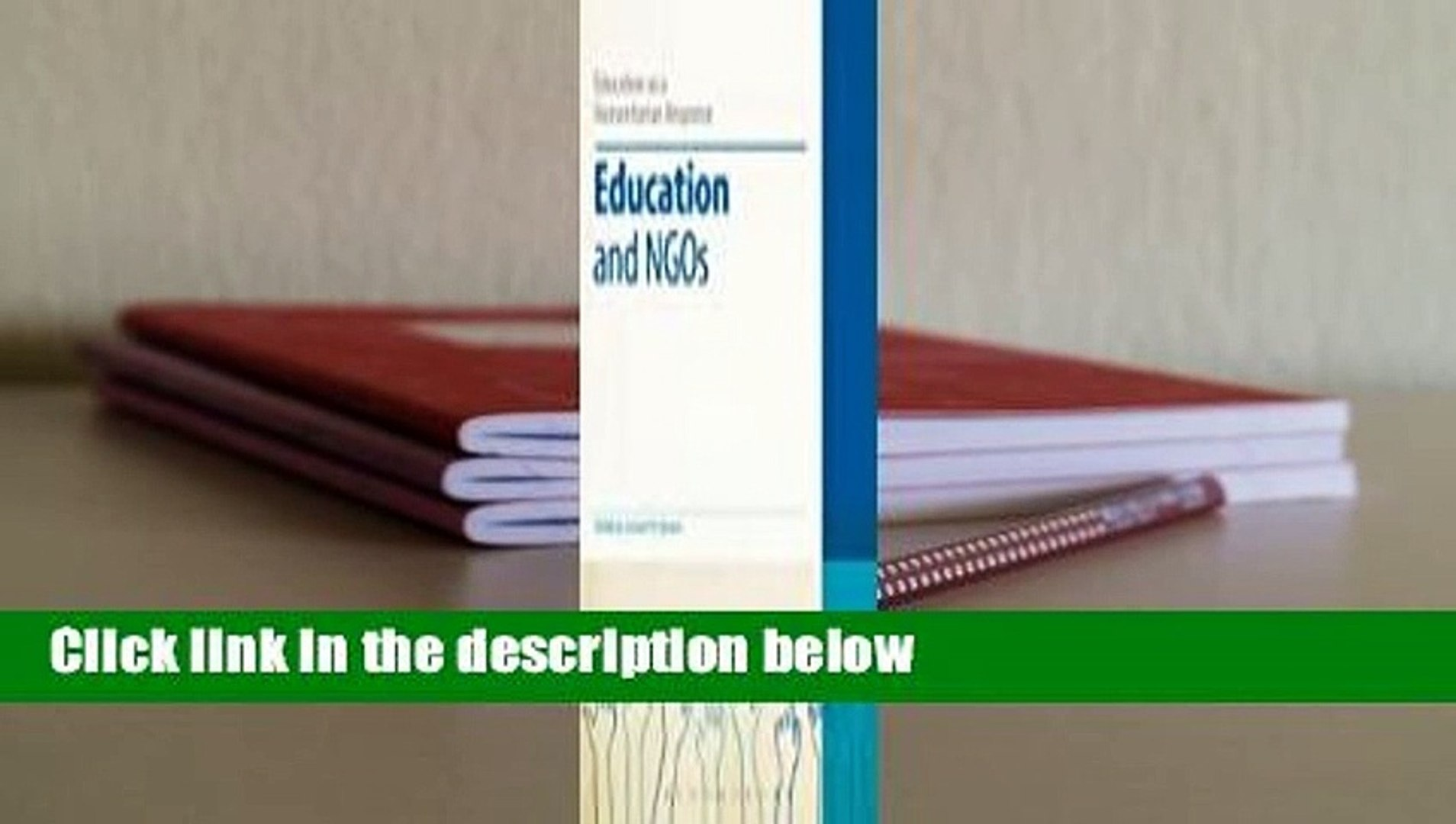 Education and NGOs  For Kindle