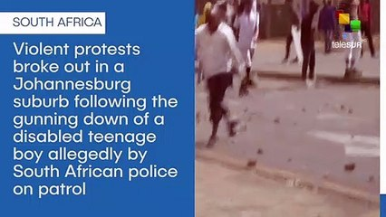 Protests rock South African suburb after police allegedly shoot teenager