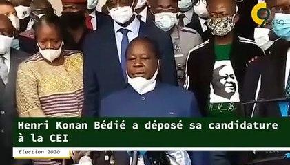 Henri Konan Bédié a déposé son dossier de candidature à la Commission Électorale Indépendante