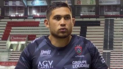Raphaël Lakafia après RCT Rouge VS RCT Noir