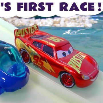 New Finding Nemo Dory Hot Wheels race with Disney Cars Lightning McQueen plus Spongebob and Paw Patrol Zuma in this Full Episode English Toy Story for Kids from a Kid Friendly Family Channel