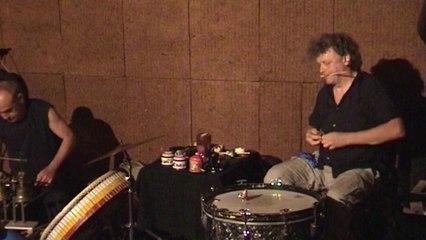 3 percussionnistes / Luc Bouquet Gilles Dalbis Guigou Chenevier / Concert à Paluds de Noves/ Extrait court du concert