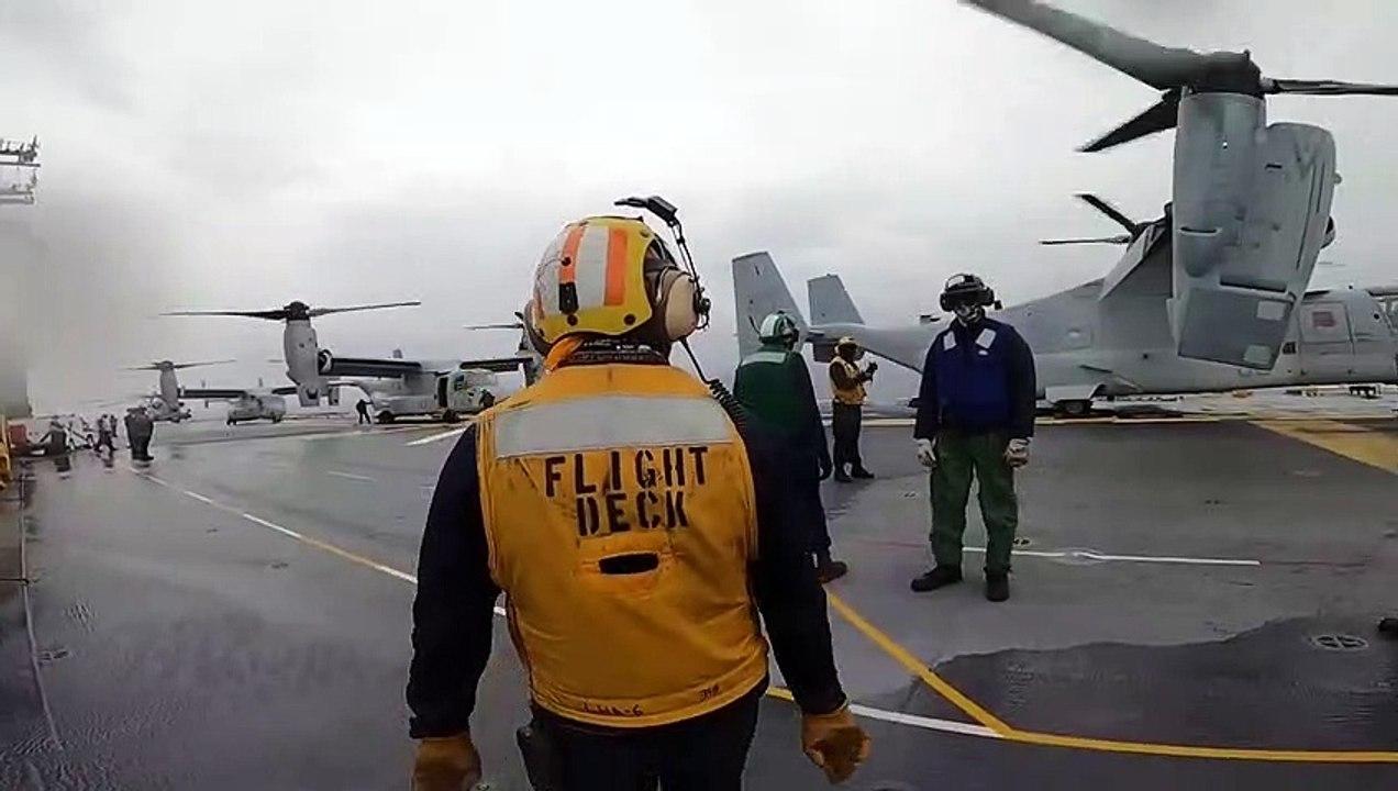 Amphibious Assault • Ship USS America • Flight Operations • Philippine Sea Aug. 27, 2020