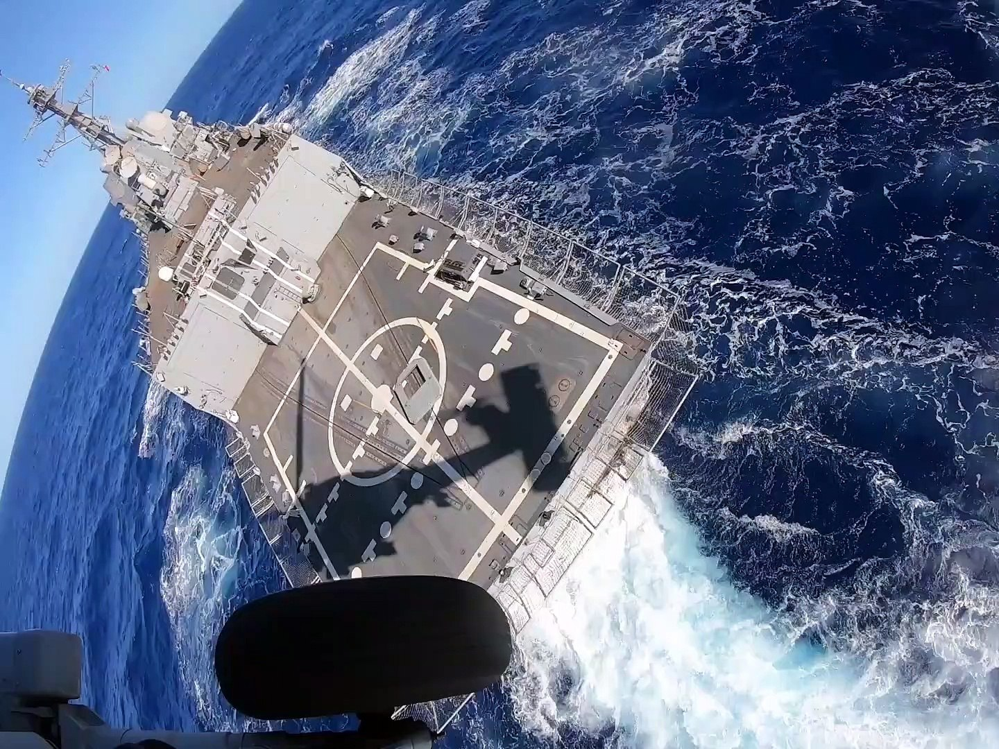 U.S. Navy • MH-60R Sea Hawk Helicopter • Launches from USS Dewey