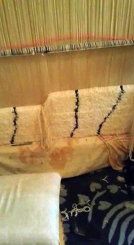 Fabrication d'un tapis Beni Ouarain