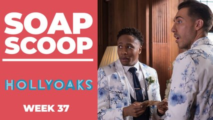Hollyoaks Soap Scoop! Mitchell and Scott's wedding day drama