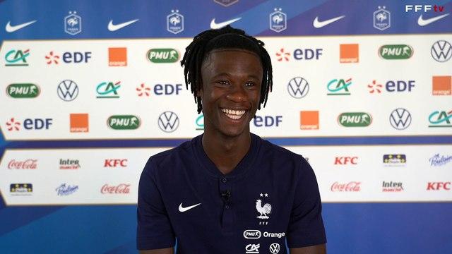 Eduardo Camavinga très satisfait de l'accueil de l'Equipe de France