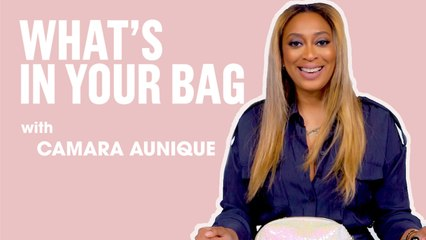 What's In Your Bag With Celebrity Makeup Artist, Camara Aunique