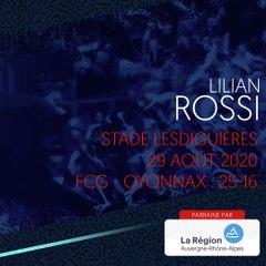 L'essai marqué par Lilian Rossi face à Oyonnax, saison 2020-2021