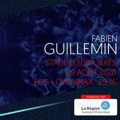 L'essai de Fabien Guillemin face à Oyonnax, saison 2020-2021