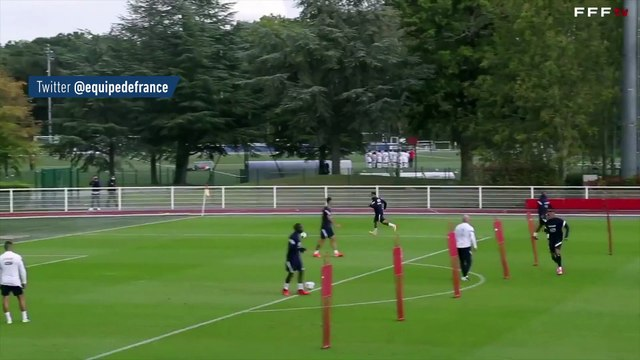 Le bel enchaînement de Fekir et Mbappé à l'entraînement - Foot - Bleus