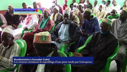 Manifestation à Garambé (Labé), Les citoyens réclament le reprofilage d'une piste rurale par Guicopress