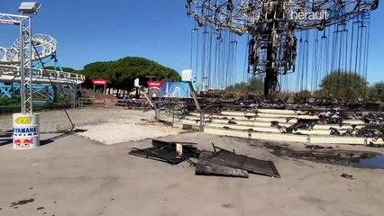 LE CAP D'AGDE - Un incendie ravage un manège du Luna Park