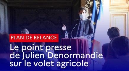 Plan de relance : le point presse de Julien Denormandie sur le volet agricole