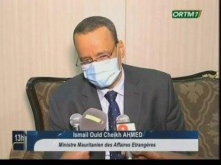 ORTM/Arrivée du ministre des affaires étrangères de la Mauritanie à Bamako