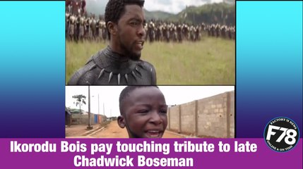 """F78NEWS: Ikorodu Bois pay touching tribute to Chadwick Boseman by remaking scenes from """"Black Panther"""""""