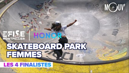 Top 4 Skateboard Park Pro Femmes | E-FISE Montpellier by Honor