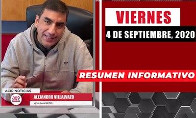 Resumen de noticias viernes 4 de septiembre 2020 / Panorama Informativo / 88.9 Noticias