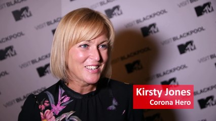 Kirsty Jones proud to be part of the Corona Heroes team turning on Blackpool Illuminations