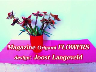 Origami Flowers out of Magazine paper Cutouts