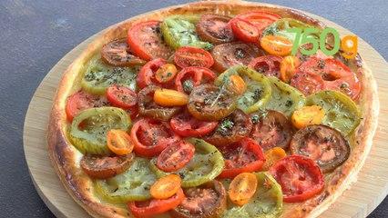 Recette de la tarte aux tomates multicolores et moutarde - 750g