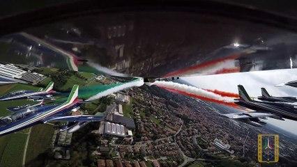 Gran Premio d'Italia: il sorvolo delle Frecce Tricolori