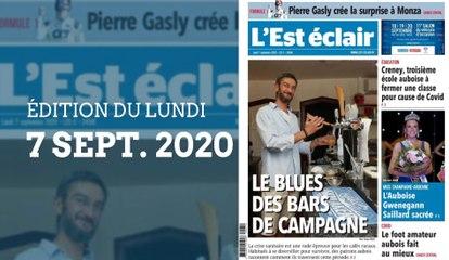 L'Est-Éclair: Sommaire de l'édition du lundi 7 septembre 2020