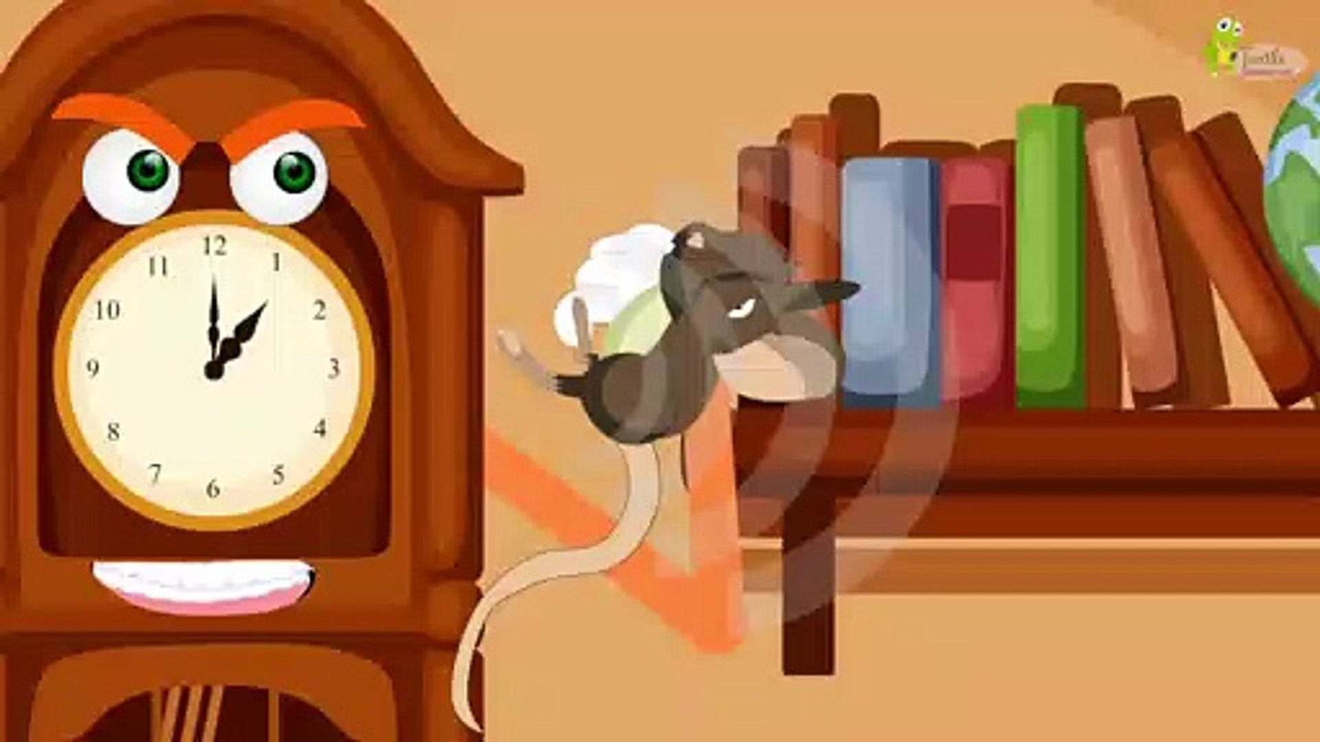 Hickory Dickory Dock - Kids Nursery Rhymes by Turtle - Education Park