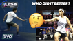 Squash: Who Did It Better? - Nonchalant Roller, Topspin Backhand Drop & MORE!