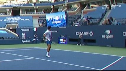 Novak Djokovic est disqualifié après avoir envoyé une balle sur une juge de ligne (US Open)