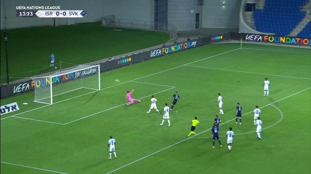 Les buts de Israël - Slovaquie - Foot - Ligue des nations
