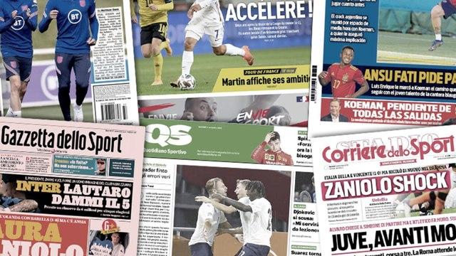La folle proposition de l'Inter pour garder Lautaro Martinez, la presse anglaise dézingue Mason Greenwood et Phil Foden après leur frasque