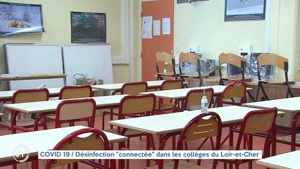 """COVID 19 / Désinfection """"connectée"""" dans les collèges du Loir-et-Cher"""