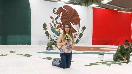 Bandera de México 100% hecha a mano