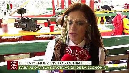 ¡Lucía Méndez presentó su nuevo tema musical en Xochimilco y con tremenda fiesta! | Ventaneando