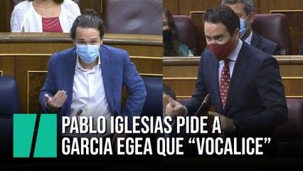 """Pablo Iglesias pide a García Egea que """"vocalice"""""""