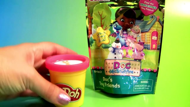 Play Doh Surprise Toys Learn Colors with Doc McStuffins and her Talking Toys Chilly Lambie Stuffy
