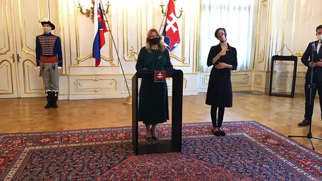 ZÁZNAM: Vyhlásenie prezidentky Zuzany Čaputovej