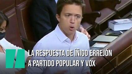 La respuesta de Íñigo Errejón a PP y Vox